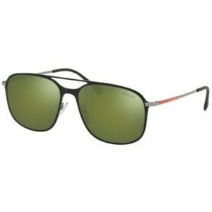 Prada Aviator Style Green Mirrored Lens